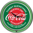 Coca-Cola Red & Green Neon Clock, 3in. x 14 1/2in. x 14 1/2in.