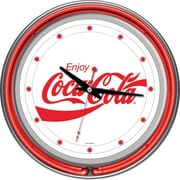 Coca-Cola Enjoy Coke Neon Clock, 3 x 14 1/2 x 14 1/2