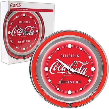 Coca-Cola Neon Clock, 14 1/2in. L x 14 1/2in. W x 3in. H