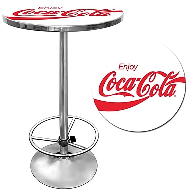 Coca-Cola White Pub Table, 28in. dia x 1in. Thick