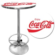 "Coca-Cola White Pub Table, 28"" dia x 1"" Thick"