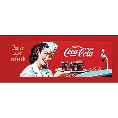 Coca-Cola in.Coke Waitressin. Stretched Canvas Print, 12in. x 36in.
