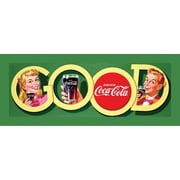 "Coca-Cola ""Good Coke"" Stretched Canvas Print, 12"" x 36"""