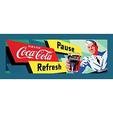 Coca-Cola in.Coke Waiterin. Stretched Canvas Print, 12in. x 36in.