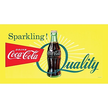 Coca-Cola Sparkling Quality in.Coke Stretched Canvas Printin., 18in. x 36in.