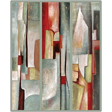 Trademark Global Joval in.Abstract Triptychin. Canvas Art, 35in. x 47in.