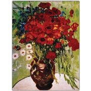 """Trademark Global Vincent Van Gogh """"Daisie & Poppies"""" Canvas Art, 24"""" x 32"""""""