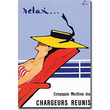 Trademark Global Rene Gruau in.Relaxin. Canvas Art, 35in. x 47in.
