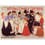 "Trademark Global ""Affiches Charles Verneau"" Canvas Art, 35"" x 47"""