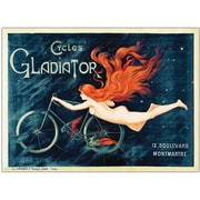 "Trademark Global Georges Massias ""Cycles Gladiator"" Framed Canvas Art, 35"" x 47"""