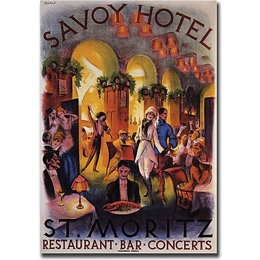 Trademark Global in.Savoy Hotel St. Moritzin. Canvas Art, 24in. x 32in.