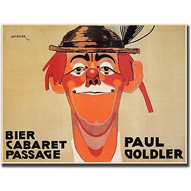 Trademark Global J. Steiner in.Bier Cabaret Passage Paul Golderin. Canvas Art, 24in. x 32in.