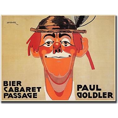 Trademark Global J. Steiner in.Bier Cabaret Passage Paul Golderin. Canvas Art, 24in. x 32in.