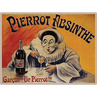 Trademark Global in.Pierrot Absinthe Garconin. Gallery Wrapped Giclee on Canvas Art, 18in. x 24in.
