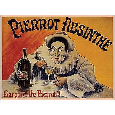 Trademark Global in.Pierrot Absinthe Garconin. Gallery Wrapped Giclee on Canvas Art, 18in. x 24in.
