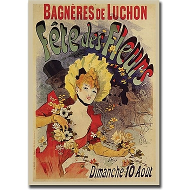 Trademark Global Jules Cheret in.Fete de Fleursin. Canvas Art, 35in. x 47in.