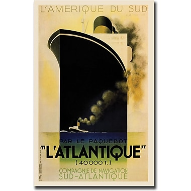 Trademark Global in.L'Amerique de sud L'Atlantiquein. Canvas Art, 35in. x 47in.