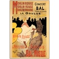 Trademark Global Henri Toulousse-Lautrec in.Moulin Rouge La Gouluein. Framed Canvas Art, 32in. x 47in.
