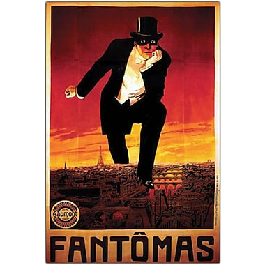 Trademark Global in.Fantomasin. Framed Canvas Art, 18in. x 24in.