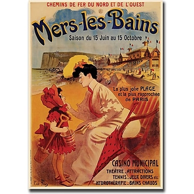 Trademark Global in.Mers Les Bainsin. Giclee on Canvas Art, 18in. x 24in.