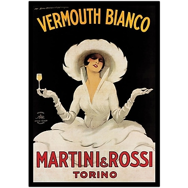 Trademark Global Marcello Dudovich in.Vermouth Bianco Martini & Rossiin. Wrapped Canvas Art