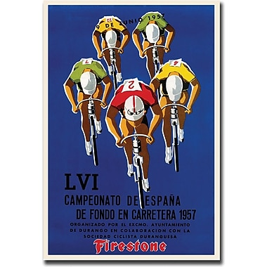 Trademark Global in.Campeonato de Espanain. Gallery Wrapped Canvas Art, 35in. x 47in.