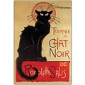 Trademark Global in.Tournee du Chat Noirin. Framed Canvas Art, 24in. x 32in.