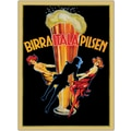 Trademark Global in.Birra Itala Pilsenin. Framed Canvas Art, 35in. x 47in.