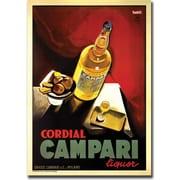 "Trademark Global ""Cordial Campari Liquor"" Gallery Wrapped Canvas Art, 18"" x 24"""