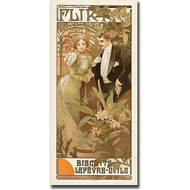 Trademark Global Alphonse Mucha in.Flirtin. Canvas Art, 24in. x 47in.
