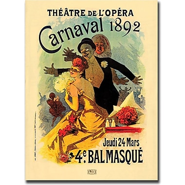 Trademark Global in.Teatre de L'Opera Carnaval 1892in. Canvas Art, 24in. x 32in.