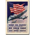 Trademark Global in.Keep'em Flyingin. Canvas Art, 24in. x 32in.