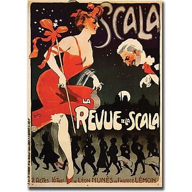 Trademark Global in.Le Revue de la Scalain. Canvas Art, 24in. x 32in.