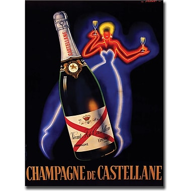 Trademark Global Robert Falcucci in.Champagne de Castellanein. Canvas Art, 18in. x 24in.