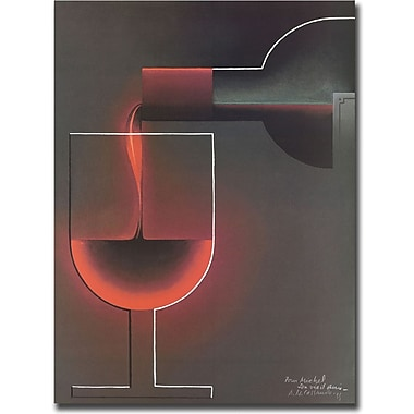 Trademark Global in.Red Winein. Canvas Art, 18in. x 24in.