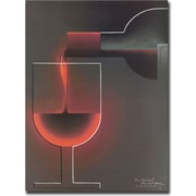 "Trademark Global ""Red Wine"" Canvas Art, 18"" x 24"""