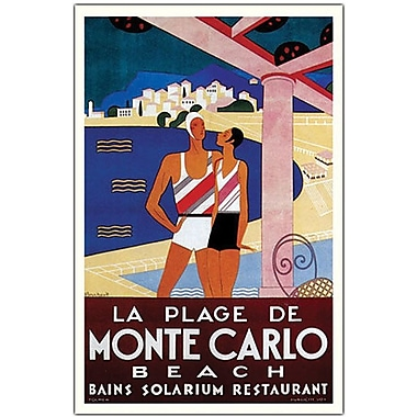 Trademark Global Phillipe Bouchard in.de Monte Carlo La Plage de Monte Carloin. Canvas Art, 18in. x 24in.
