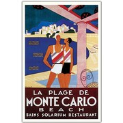 "Trademark Global Phillipe Bouchard ""de Monte Carlo La Plage de Monte Carlo"" Canvas Art, 18"" x 24"""