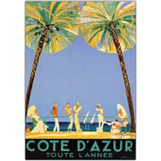 "Trademark Global Jean Dumergue ""Cote D'Azur"" Canvas Art, 18"" x 24"""