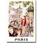 "Trademark Global ""Paris"" Canvas Art, 18"" x 24"""