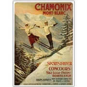 "Trademark Global ""Chamonix Mont Blanc"" Canvas Art, 24"" x 32"""