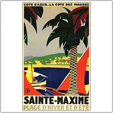 Trademark Global Roger Broders in.Sainte Maximein. Canvas Art, 24in. x 32in.