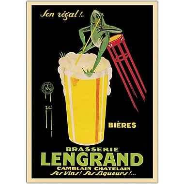 Trademark Global Bieres Brasserie Lengrand Framed Canvas Art, 24