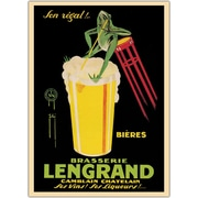 "Trademark Global Bieres Brasserie Lengrand Framed Canvas Art, 24"" x 32"""