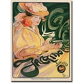 Trademark Global Fernand Toussaint in.Cafe Jacqmoettein. Canvas Art, 35in. x 47in.
