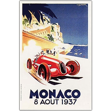 Trademark Global in.Monaco 8 Aout 1937in. Canvas Art, 24in. x 32in.