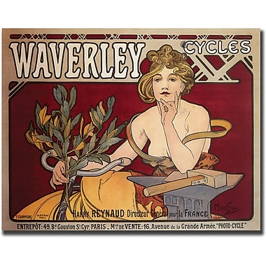 Trademark Global Alphonse Mucha in.Waverly Cyclesin. Canvas Art, 35in. x 47in.