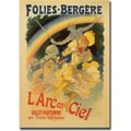 Trademark Global Jules Cheret in.L'Arc en Cielin. Canvas Art, 24in. x 32in.
