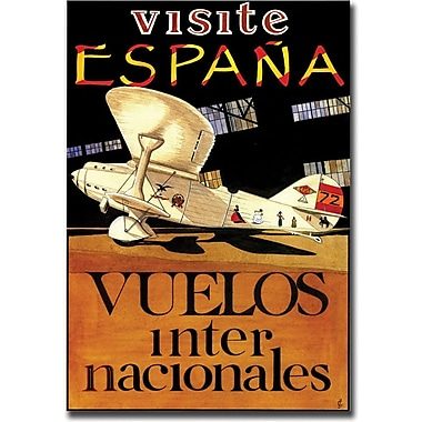 Trademark Global in.Visit Espanain. Canvas Art, 18in. x 24in.