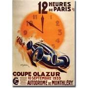 Trademark Global 12 Heur de Paris Ready to Hang Canvas Art, 24 x 32